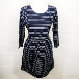Maurices Striped Zipper Long Sleeves Dress